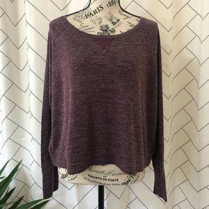 Victoria's Secret Purple Back Lace Detail Pullover